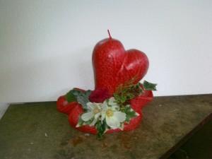 aranjament inima pe soclu