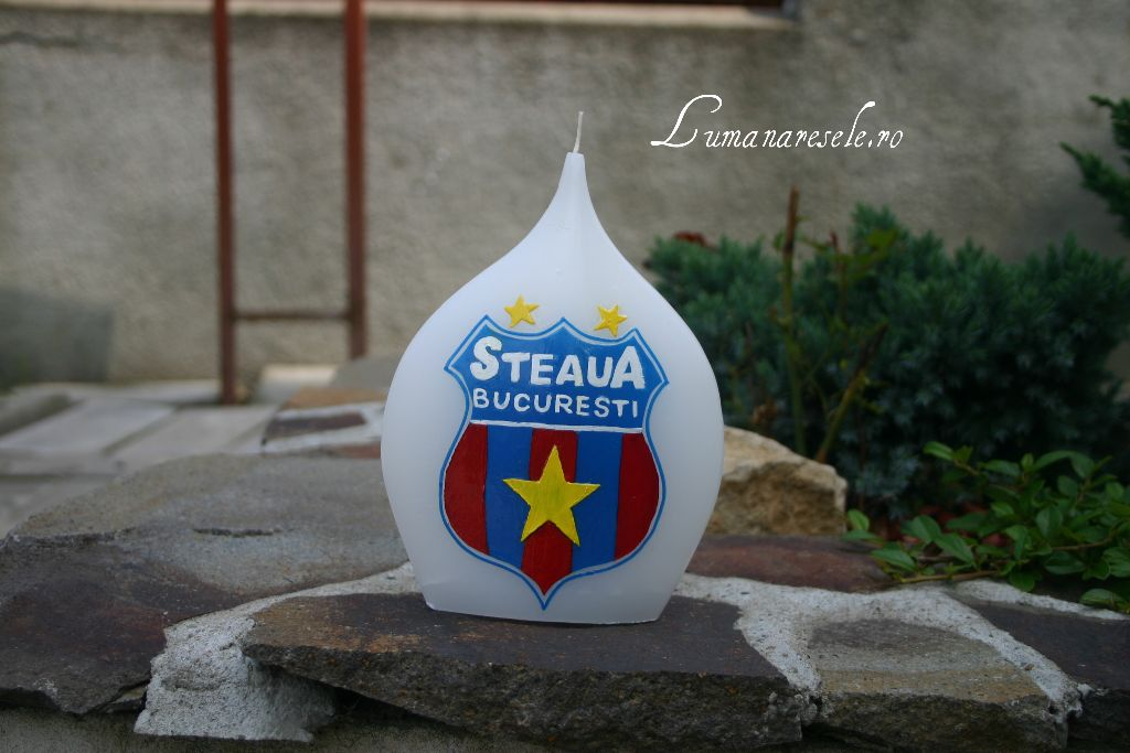 Lumanare Steaua pictata manual-Lumanaresele.ro