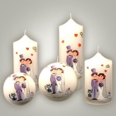 Lumanare Decorativa Nunta Bridegroom Sfera 8 Cm